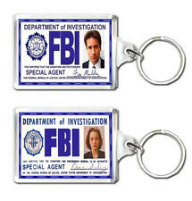 FOX MULDER DANA SCULLY FBI ID CARD X-FILES KEYRING LLAVERO