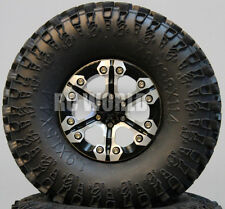 Axial SCX10 Jeep, Honcho, Scorpion Rockcrawler CNC BEADLOCK Metal WHEELS Tires