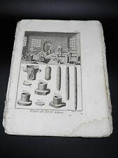 POTIER 9 Planches originales COMPLET Encyclopédie Méthodique Poterie Outils 1785