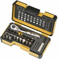 "Felo 0715761545 XS Box Set with Mini Ratchet, 1/4"" Adaptor, Bitholder & 30 Bits"