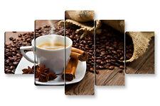 Quadro Moderno 5 pz. COFFEE BREAK cm 150x90 caffè bar ristorante arredamento