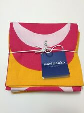 New! Marimekko For Target Set Of 4 Cotton Napkins Pink Yellow White Kukkatori