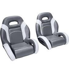 (Pair) Bass Boat Bucket Seats in Charcoal and