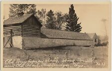 Wyoming Wy Real Photo RPPC Postcard c1920s FORT BRIDGER Pony Express Stable