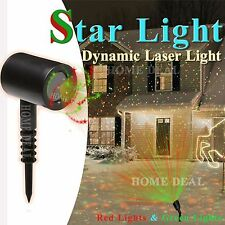 LED Laser Light Projector Moving Star Outdoor Waterproof Garden Xmas Party Decor