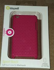 Muvit Sports Back Soft Touch Case For iPod Touch 4th Gen in Pink