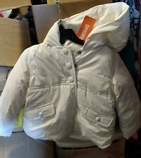 girls gymboree off white hooded puffer coat size 2t-3t nwt