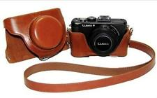 Brown Leather Camera Case Bag For Panasonic Lumix DMC-LX7 LX5 Leica D-LUX6 LUX5