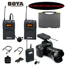 BOYA BY-WM6 Wireless Microphone System with Reveiver&Transmitter for Canon Nikon