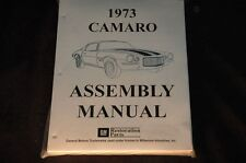 1973 CAMARO  ASSEMBLY MANUAL 100'S OF PAGES OF PICTURES, PART NUMBERS & DETAILS
