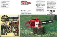 "REMINGTON MOTOSEGA - ""Mighty Mite-Bantam"" BROCHURE-BF1"
