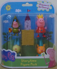 PEPPA PIG ~ PRINCESS PEPPA Storytime Figura Pack's ~ include 4 Figure