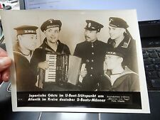 GENUINE WW2 GERMAN PRESS SYNDICATE PHOTOGRAPHS  MARTIME ACCORDION U BOAT