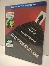 10 Cloverfield Lane (2016) Blu-ray/DVD/Digital HD NEW! Best Buy Steelbook Excl.