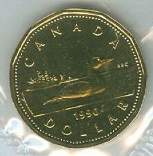 1990 Loonie 1 One Dollar 90' Canada-Canadian BU Coin UNC Proof Like PL