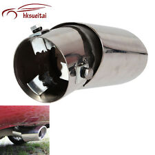 New Car Curved Stainless Chrome Polishing Muffler Straight Tail Pipe Exhaust Tip