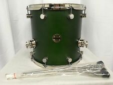 "Ddrum Paladin 14"" X 14"" Floor Tom/Maple Shell/Zombie Green Finish/NEW"
