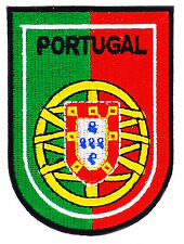 FLAG PATCH PATCHES PORTUGAL PORTUGUESE coat of arms IRON ON EMBROIDERED EMBLEM