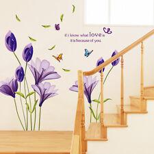DIY Wandtattoo Liebe Schmetterling Blumen Wandaufkleber Wandsticker Wohnzimmer