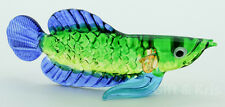 Figurine Animal Hand Blown Glass Malayan Bonytongue Arowana Fish - GPFI015