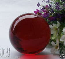 40MM Asian Rare Natural Quartz Red Magic Crystal Healing Ball Sphere + Stand !!!