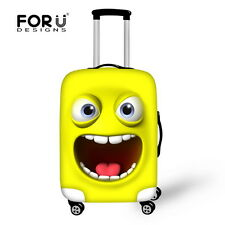 Clear Yellow Cute Travel Luggage Covers Fashion Suitcase Protector Cover Case