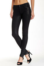 Joe's Jeans Rollin' Zip Pocket Skinny Jean Jet Black 32 NWT $198