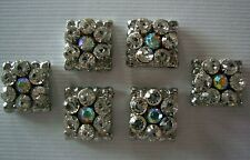 2 Hole Slider Beads Daisy Square Clear Crystal Made With Swarovski  Elements #6