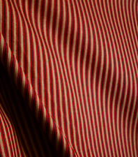 Red And Gold Striped Fabric With Brown