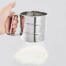 Stainless Steel Mesh Flour Sifter Mechanical Baking Icing Sugar Shaker Sieve SY