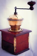 LEINBROCK'S IDEAL D.R.G.M. Coffee Grinder WOODEN Table Box Mill Moulin Cafe