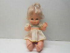 "Vintage Famosa Doll Made in Spain with Squeaker 13"" Collectible"