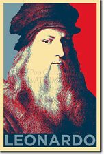LEONARDO DA VINCI ART PHOTO PRINT (OBAMA HOPE) POSTER GIFT