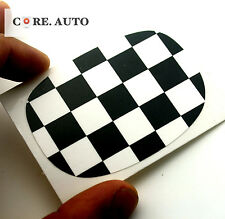 Checkered Styling for Mini Cooper Car Seat Handle Sticker Decal