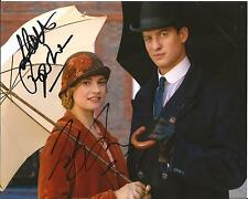 Hand Signed 8x10 photo LILY JAMES & MATT BARBER in DOWNTON ABBEY + my COA