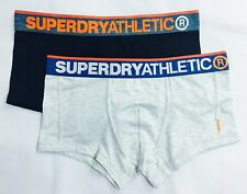 "Superdry Athletic Men's L 2 Pack Boxers Large 34"" Underwear Black/ White Marl"