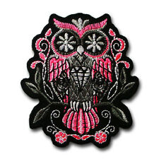 Sugar Owl Diamond Patch Iron on Chopper Biker Motorcycle Rider Tattoo Retro Vest