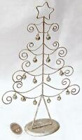 CURLED WIRE CHRISTMAS TREE (WITH BELLS).