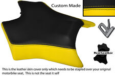 BLACK & YELLOW CUSTOM FITS DERBI GPR 50 125 UNDERSEAT EXHAUST 07-13  FRONT COVER