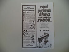 advertising Pubblicità 1972 MACCHINA PER CUCIRE SINGER ZIG ZAG
