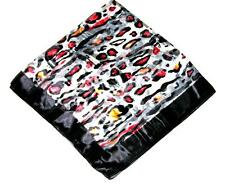 SCARF Large Square Black Gray Red Orange Jaguar Cheetah WILD CAT SPOTS