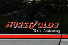 83 HURST/OLDS H/O 15TH ANNIVERSARY CUTLASS SUPREME DECALS DECAL STICKER 442