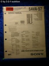 Sony Service Manual SAVA 57 Active Speaker System (#4370)