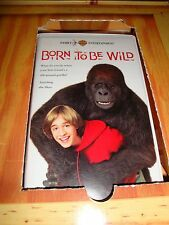 EXTREMELY RARE SCREENING/PROMO KIT BORN TO BE WILD VHS Movie 1995 Clam Shell