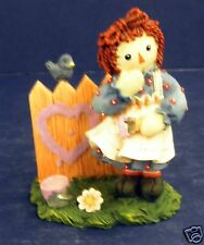 Enesco Raggedy Ann Figurine-New in Box-#640506-Happiness- Purple Heart- Retired