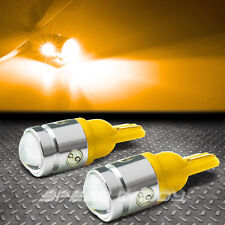 2X T10 1W CREE Q5 LED W5W 194 360° AMBER INTERIOR DOME/MAP PROJECTOR LIGHT BULB