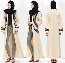 Muslim Women Open Cardigan Dresses Abaya Long Sleeve  Kaftan Maxi Dress XXL