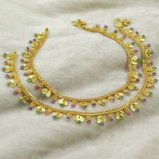 Indian Ethnic Traditional Wedding Anklet Women Party Feet Ankle Bracelet Jewelry