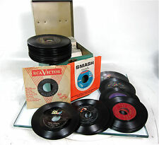 Lot of 72 Juke Box 45 RPM Records Buddy Knox - Jimmie Rodgers - Don Gibson