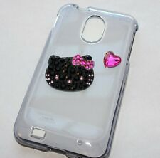 Samsung Galaxy S2 Epic 4G Touch D710 Sprint - HARD CASE BLACK HELLO KITTY BLING